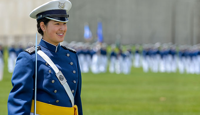 Image of Cadet during a graduation ceremony.