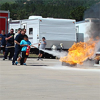 image of a fire safety camp