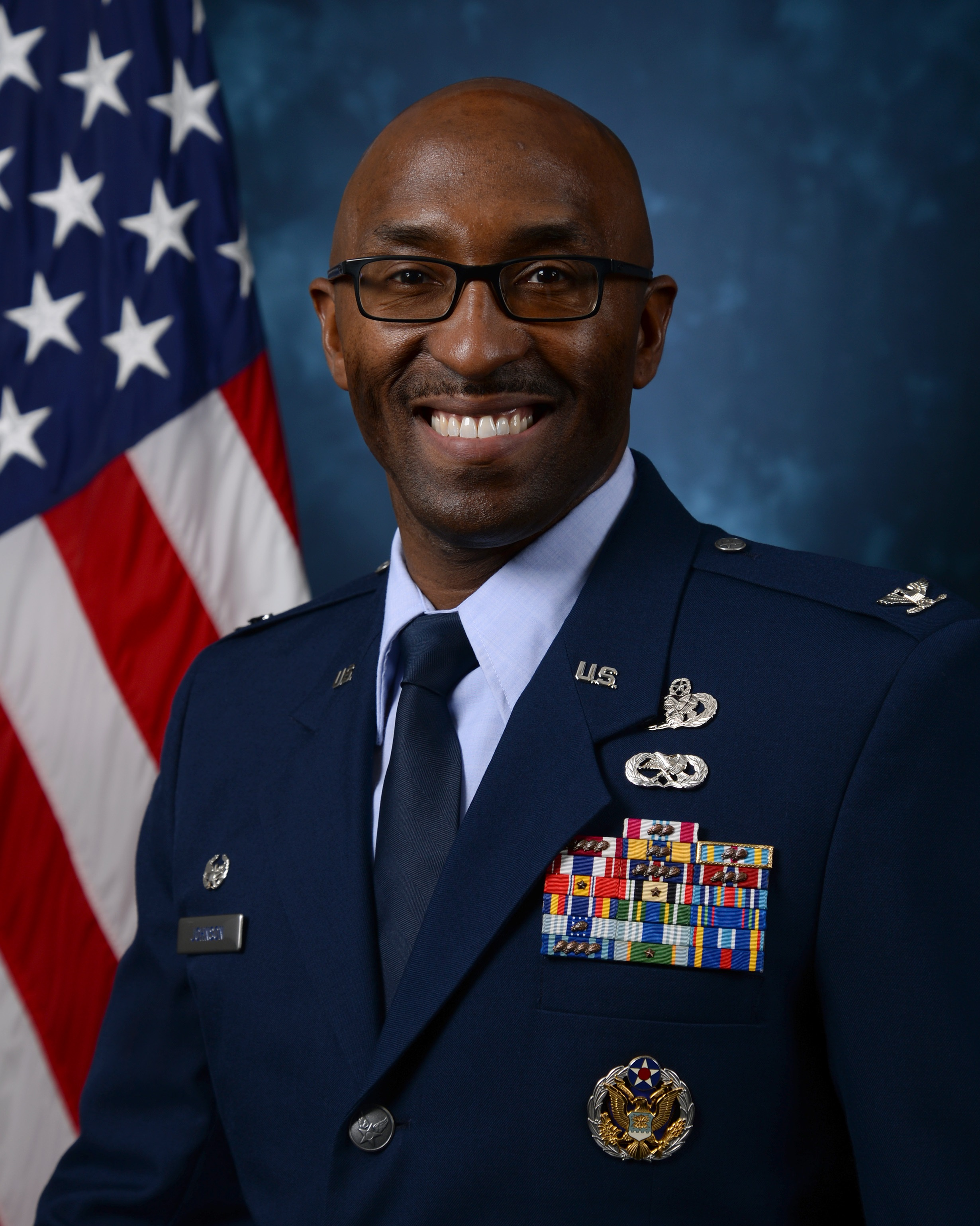 an official photograph of Col. Andre T. Johnson