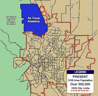 Maps and Additional Information Map Colorado Springs on