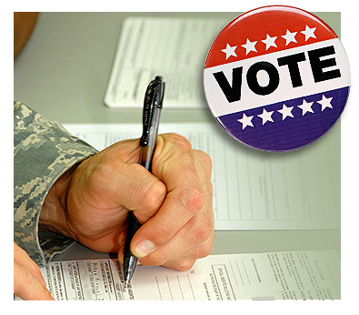 Advertisement image for voter assistance program
